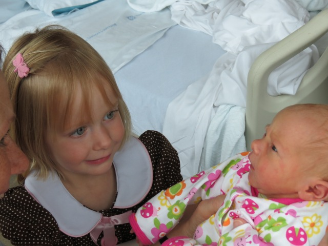 Annika and Eliza checking each other out.